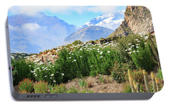 Portable Battery Charger featuring the photograph Snow In The Desert by David Chandler