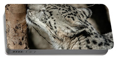 Snow Leopard Portable Battery Charger by Lisa L Silva