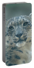 Portable Battery Charger featuring the photograph Snow Leopard Portrait by Sandy Keeton