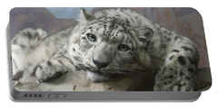 Snow Leopard Relaxing Portable Battery Charger