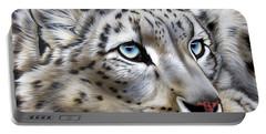 Snow-leopard's Dream Portable Battery Charger by Sandi Baker
