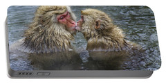 Snow Monkey Kisses Portable Battery Charger