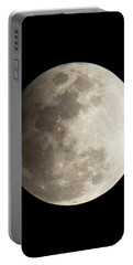 Portable Battery Charger featuring the photograph Snow Moon by John Black