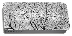 Portable Battery Charger featuring the photograph Snow On Branches by Lars Lentz