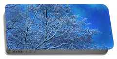 Portable Battery Charger featuring the photograph Snow On Branches Photo Art by Sharon Talson