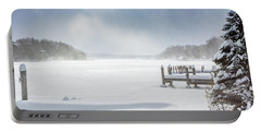 Snow On Lake Charlevoix Portable Battery Charger
