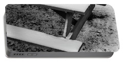 Snow On Picnic Table Portable Battery Charger