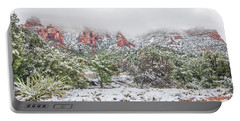 Snow On Red Rock Portable Battery Charger