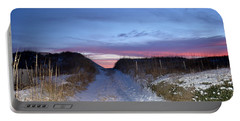Portable Battery Charger featuring the photograph Snow On The Dunes by Barbara Ann Bell