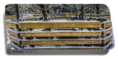 Portable Battery Charger featuring the photograph Snow On The Fence by Bill Howard