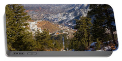 Snow On The Manitou Incline In Wintertime Portable Battery Charger