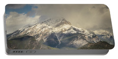 Portable Battery Charger featuring the photograph Snow On The Mountain by Bill Howard