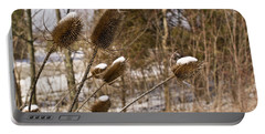 Snow On The Seed Cones Portable Battery Charger