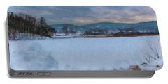 Snow On The West River Portable Battery Charger by Tom Singleton