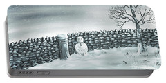 Portable Battery Charger featuring the painting Snow Patrol by Kenneth Clarke
