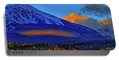Portable Battery Charger featuring the photograph Snow Peak Fall by Scott Mahon