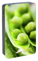 Snow Peas Or Green Peas Seeds Portable Battery Charger by Vishwanath Bhat