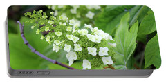 Snow Queen Hydrangea Portable Battery Charger