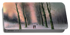 Snow Scene Wanstead Park   Portable Battery Charger