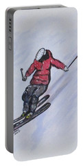 Snow Ski Fun Portable Battery Charger