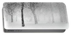 Snow Storm At Starved Rock Portable Battery Charger