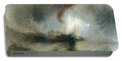 Portable Battery Charger featuring the painting Snow Storm by Joseph Mallord William Turner