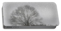 Snow Storm Tree Portable Battery Charger
