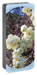 Portable Battery Charger featuring the photograph Snowberry Cluster by Will Borden