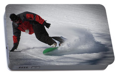 Portable Battery Charger featuring the photograph Snowboarder On Mccauley by David Patterson
