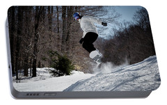 Portable Battery Charger featuring the photograph Snowboarding Mccauley Mountain by David Patterson