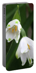 Snowdrops #4 Portable Battery Charger by Kim Tran