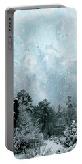 Portable Battery Charger featuring the digital art Snowfall by Gina Harrison