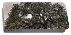 Snowfall On Emancipation Oak Tree Portable Battery Charger