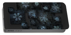 Snowflake Collage - Dark Crystals 2012-2014 Portable Battery Charger