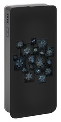 Snowflake Collage - Dark Crystals 2012-2014 Portable Battery Charger by Alexey Kljatov