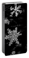 Snowflake Jewels Portable Battery Charger by Shelly Gunderson