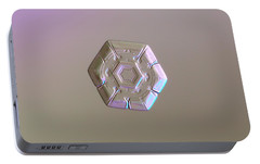Portable Battery Charger featuring the photograph Snowflake Photo - Frozen Hearts by Alexey Kljatov