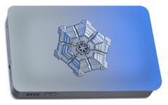 Portable Battery Charger featuring the photograph Snowflake Photo - Winter Fortress by Alexey Kljatov
