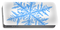 Snowflake Vector - Silverware White Portable Battery Charger