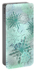 Snowflakes Portable Battery Charger by AugenWerk Susann Serfezi