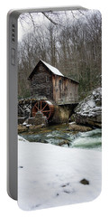 Snowing At Glade Creek Mill Portable Battery Charger