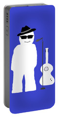 Portable Battery Charger featuring the digital art Snowman Musician by Barbara Moignard