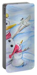 Snowmen Portable Battery Charger