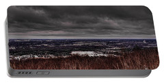 Snowstorm Clouds Over Rib Mountain State Park Portable Battery Charger