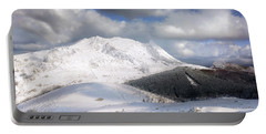 snowy Anboto from Urkiolamendi at winter Portable Battery Charger