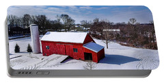 Snowy Barn Portable Battery Charger
