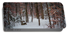 Snowy Bench Portable Battery Charger