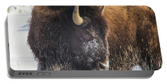 Snowy Bison Portable Battery Charger