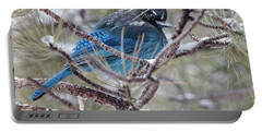 Snowy Bluejay  Portable Battery Charger