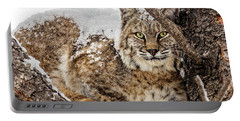 Snowy Bobcat Portable Battery Charger